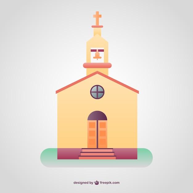 Colorfull christlichen tempel hintergrund Kostenlosen Vektoren