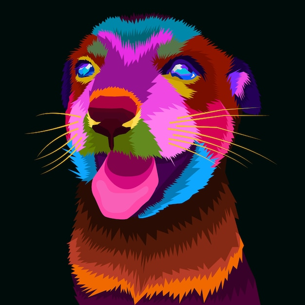 Colorfull hundekunstvektor Premium Vektoren