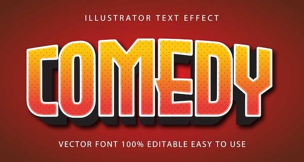 Comedy bearbeitbarer texteffekt Premium Vektoren