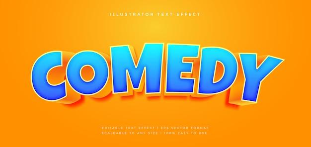 Comedy movie title text style schrift-effekt Premium Vektoren