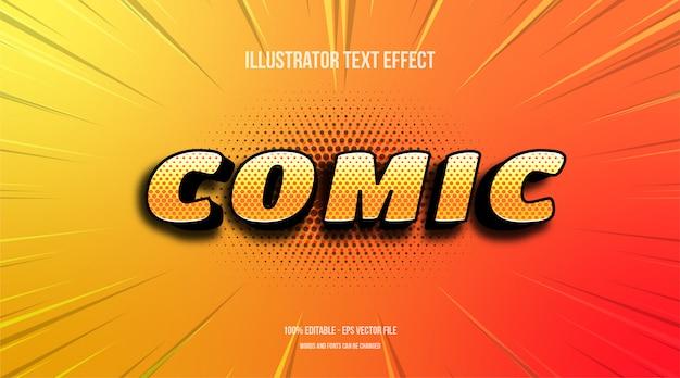 Comic bearbeitbarer texteffekt Premium Vektoren