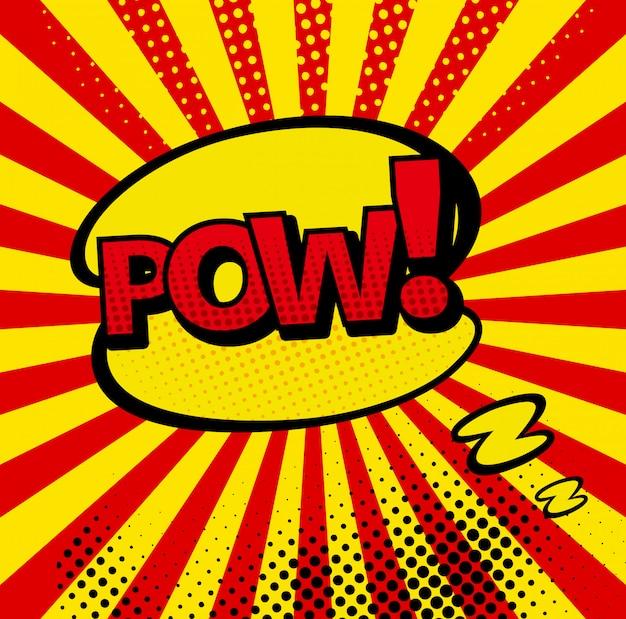 Comic-bläschen und sound explosionen symbole mit sonnenstrahlen Premium Vektoren