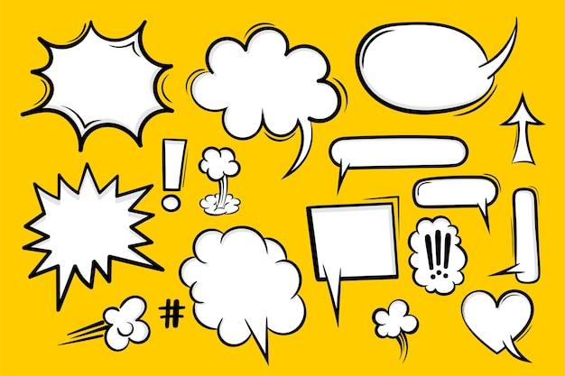 Comic-buchtext-sprechblase im pop-art-stil. Premium Vektoren