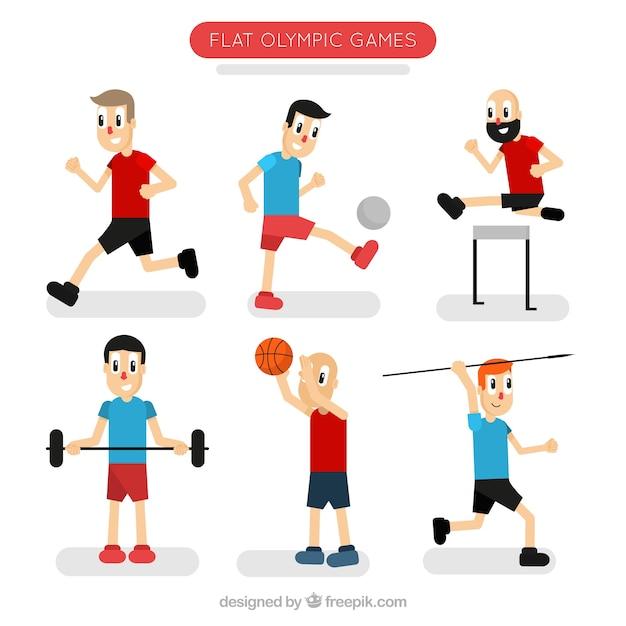 Comic-Figuren beim Sport | Download der kostenlosen Vektor