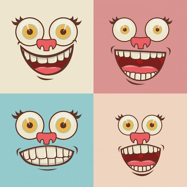 Comic Gesichter