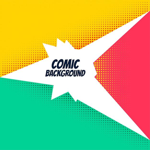 Comic-hintergrund mit hellen halbton-effekt Kostenlosen Vektoren