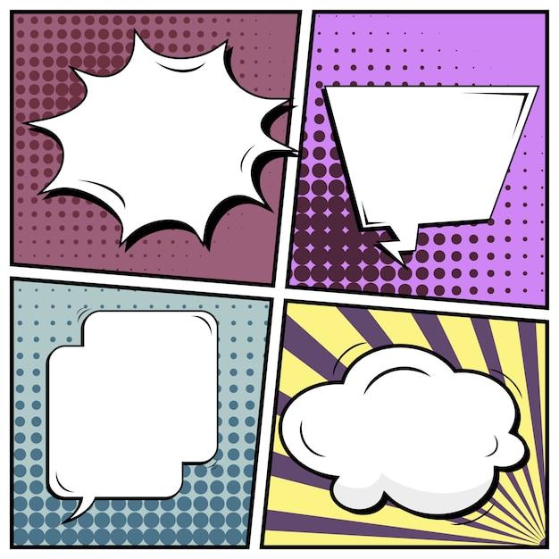 Comic pop-art-stil hintergrund. Premium Vektoren