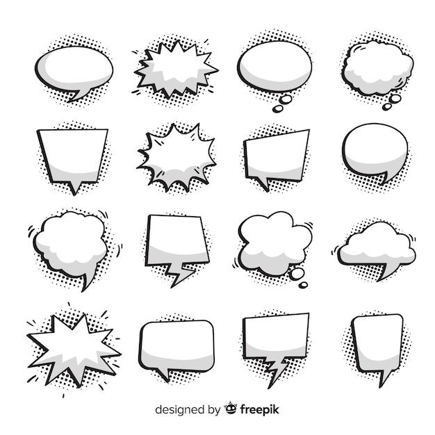 Comic-sprechblasen-sammlung Kostenlosen Vektoren