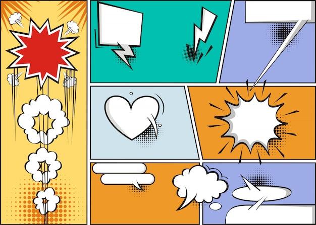 Comic sprechblasen Premium Vektoren
