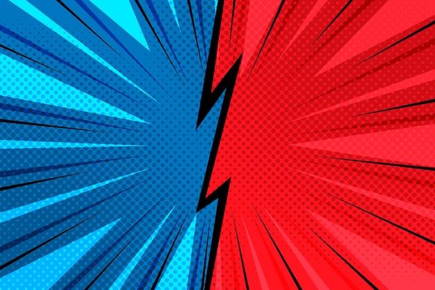 Comic-stil hintergrund Kostenlosen Vektoren