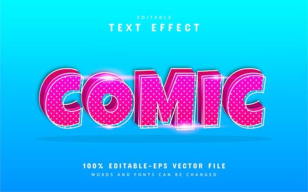 Comic-texteffekt mit punktmuster Premium Vektoren