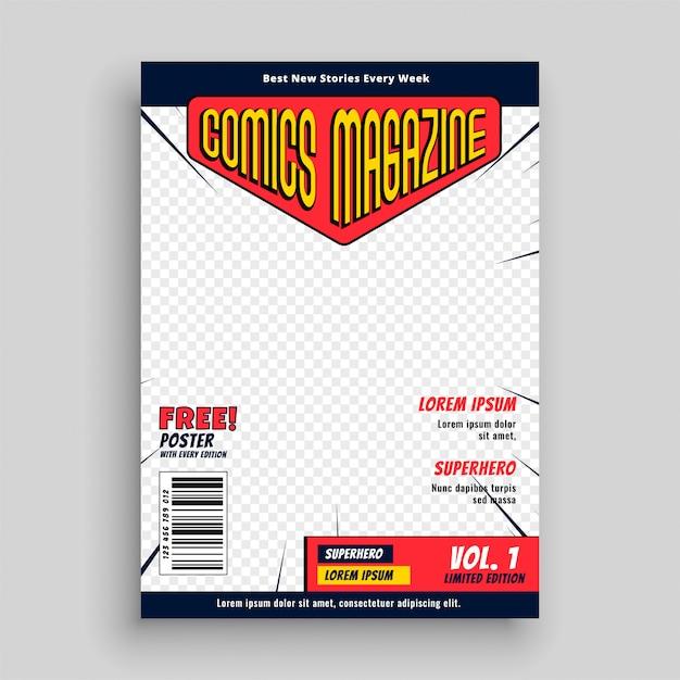 Comic-titelseitenvorlage Kostenlosen Vektoren