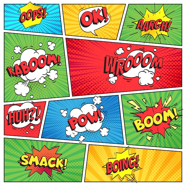 Comics-seite Premium Vektoren