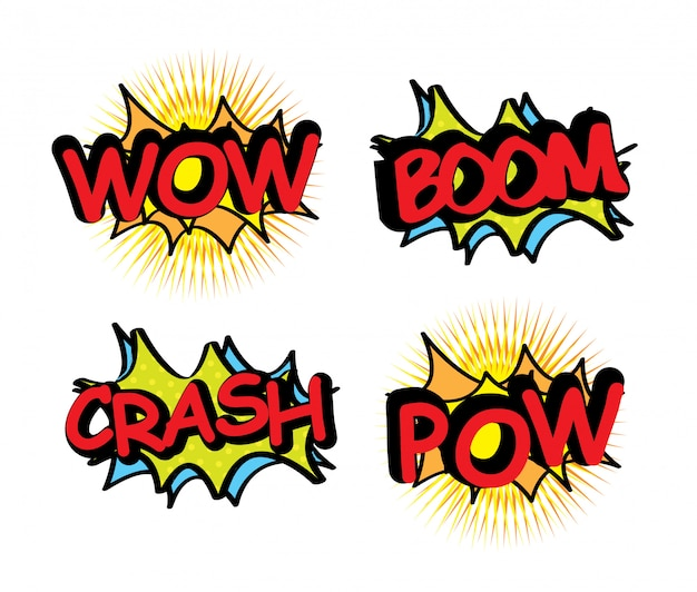 Comics-symbole Premium Vektoren