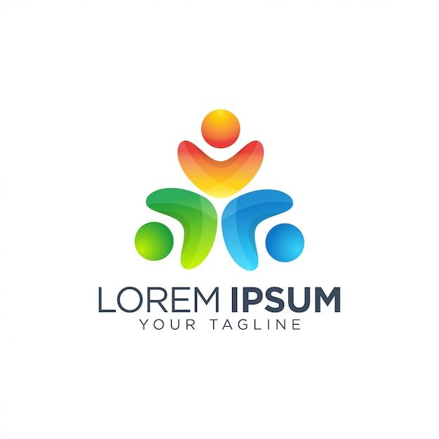 Community people logo vorlage Premium Vektoren