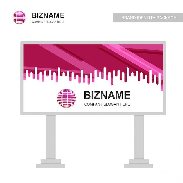 Company bill board mit kreativem design Kostenlosen Vektoren