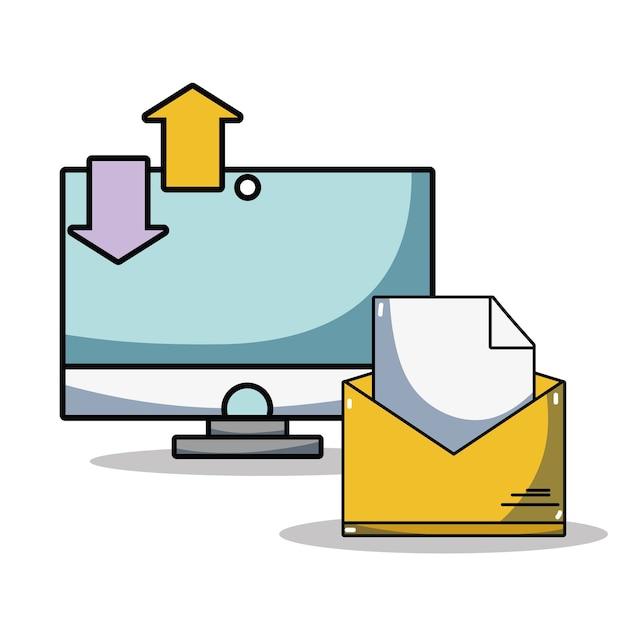 Computer-datencenter-systeminformationen Premium Vektoren