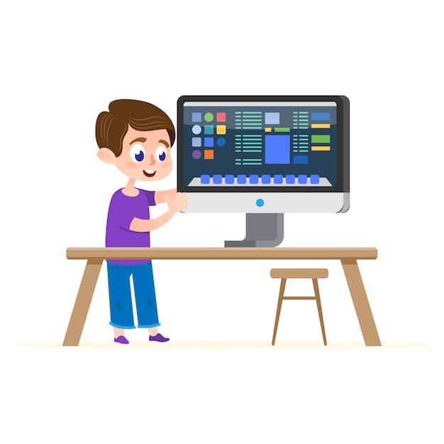 Computerausbildung Premium Vektoren