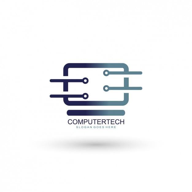 Computing company logo-vorlage Kostenlosen Vektoren