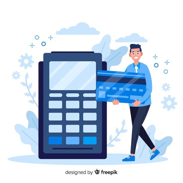 Concept landing page kreditkartenzahlung Kostenlosen Vektoren