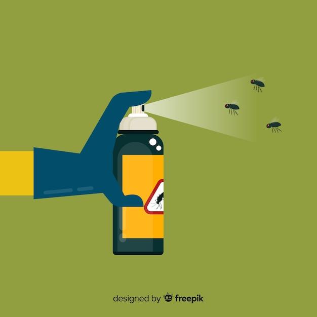 Concepto der hand mückenspray halten Kostenlosen Vektoren