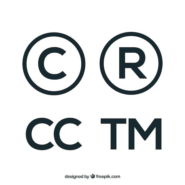 Copyright Symbol In Flacher Art Kostenlose Vektoren