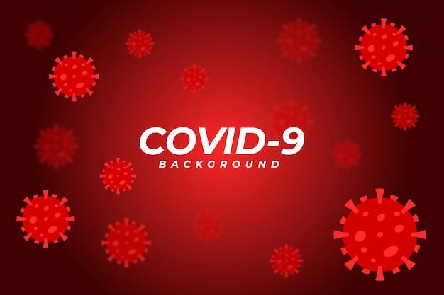 Corona virus hintergrund Premium Vektoren