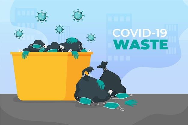 Coronavirus-abfall - hintergrund Kostenlosen Vektoren