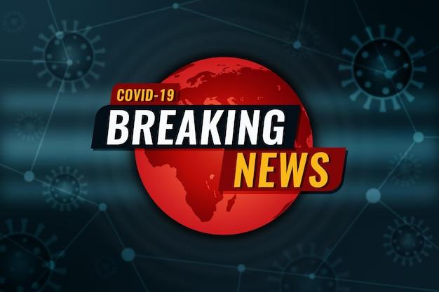 Coronavirus breaking news hintergrund Kostenlosen Vektoren
