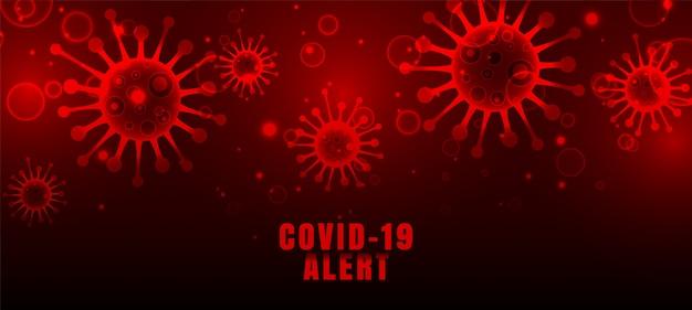 Coronavirus covid-19 pandemie ausbruch rote viren hintergrund Kostenlosen Vektoren