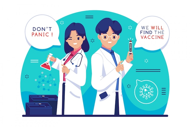 Coronavirus-impfstoff Premium Vektoren