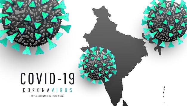 Coronavirus kartiert die weltweite aktualisierung der krankheitssituation auf weißem hintergrund. coronavirus-moleküle, world india map coronavirus oder covid-19 Premium Vektoren