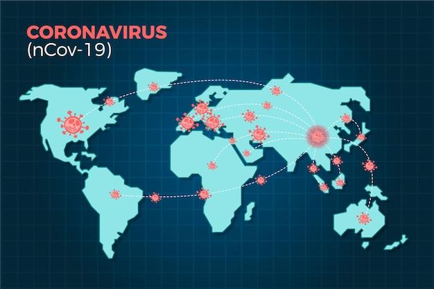 Coronavirus ncov-19 verbreitet sich auf der ganzen welt Kostenlosen Vektoren