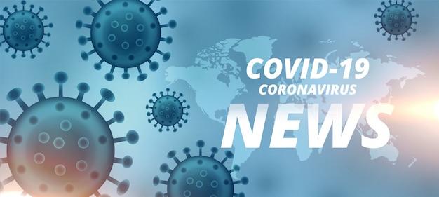 Coronavirus neueste version und aktualisiert banner-design Kostenlosen Vektoren