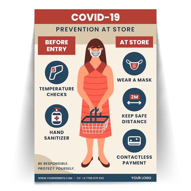 Coronavirus-poster für den laden Kostenlosen Vektoren