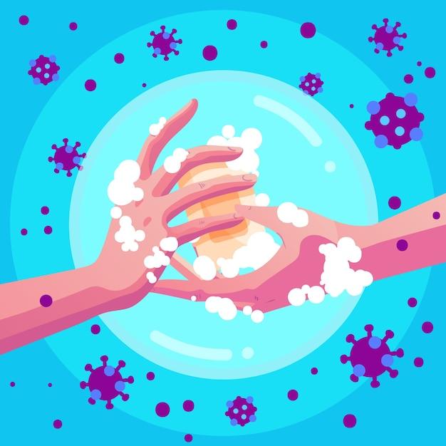 Coronavirus-präventionskonzept Kostenlosen Vektoren