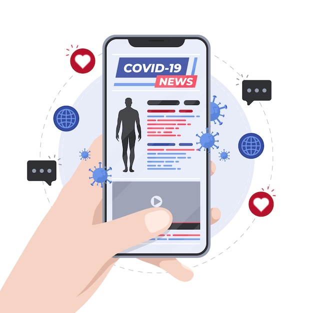Coronavirus-update-konzept Kostenlosen Vektoren