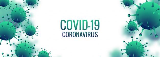 Coronavirus-zellen-banner Kostenlosen Vektoren