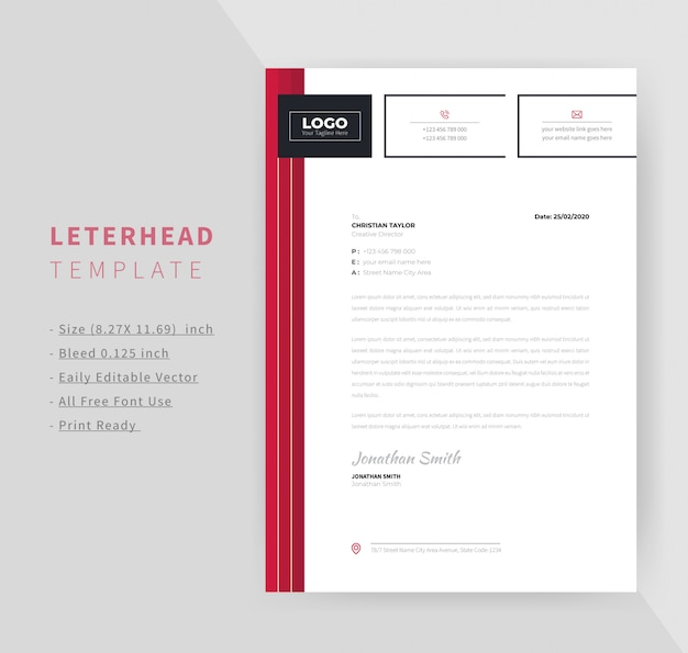 Corporate briefkopf design-vorlage Premium Vektoren