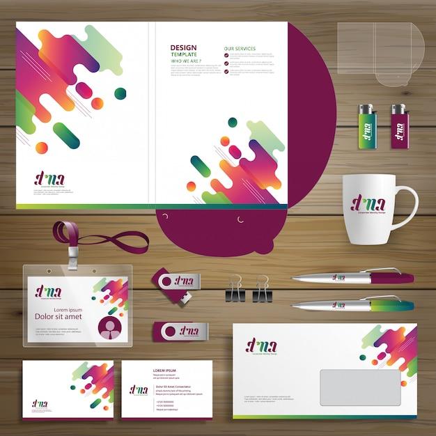 Corporate business design folder vorlagenidentität Premium Vektoren