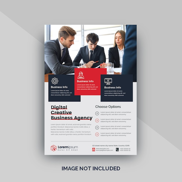 Corporate business flyer oder poster Premium Vektoren
