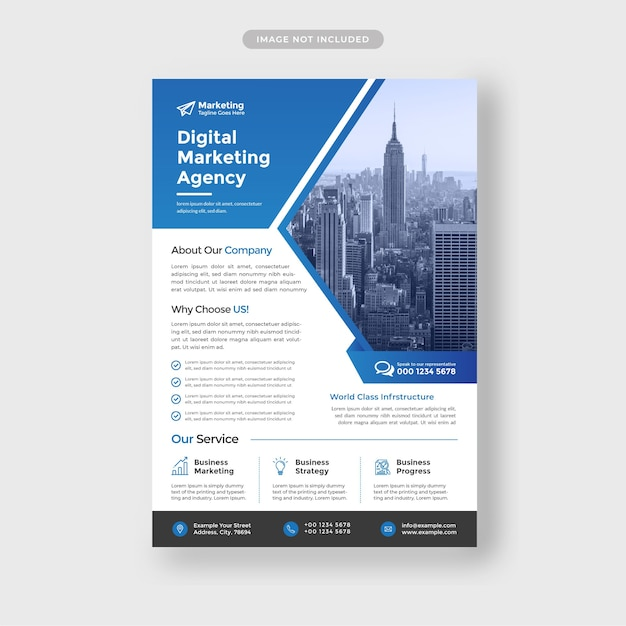 Corporate business flyer vorlage Premium Vektoren