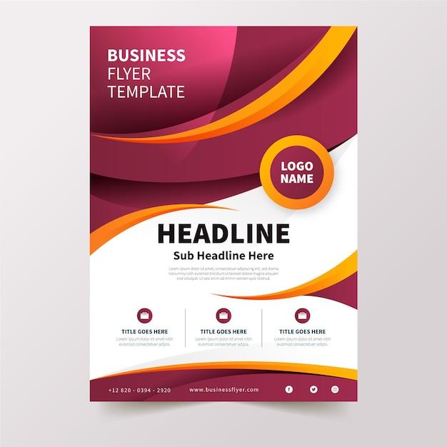 Corporate business flyer vorlage Premium Vektoren