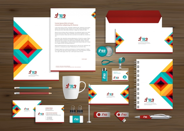 Corporate business identity-vorlage Premium Vektoren