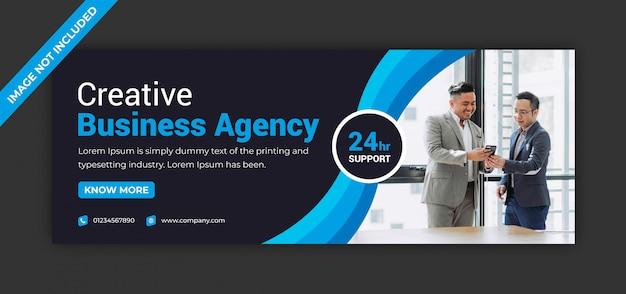 Corporate business marketing agentur social media instagram post facebook deckblatt timeline web ad banner vorlage Premium Vektoren