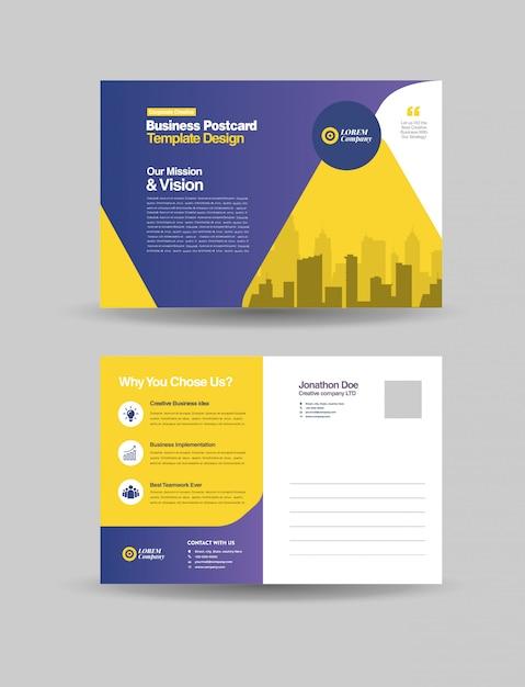 Corporate business postkarte Premium Vektoren