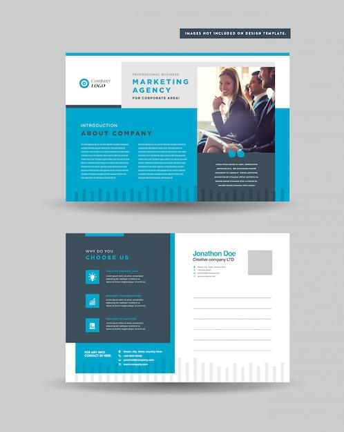 Corporate business postkarten design | save the date einladungskarte | direktwerbung eddm design Premium Vektoren