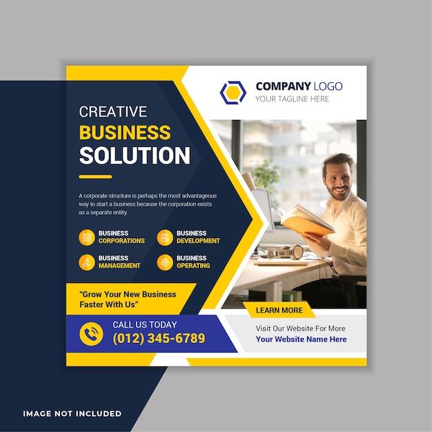 Corporate business social media instagram post banner vorlage Premium Vektoren