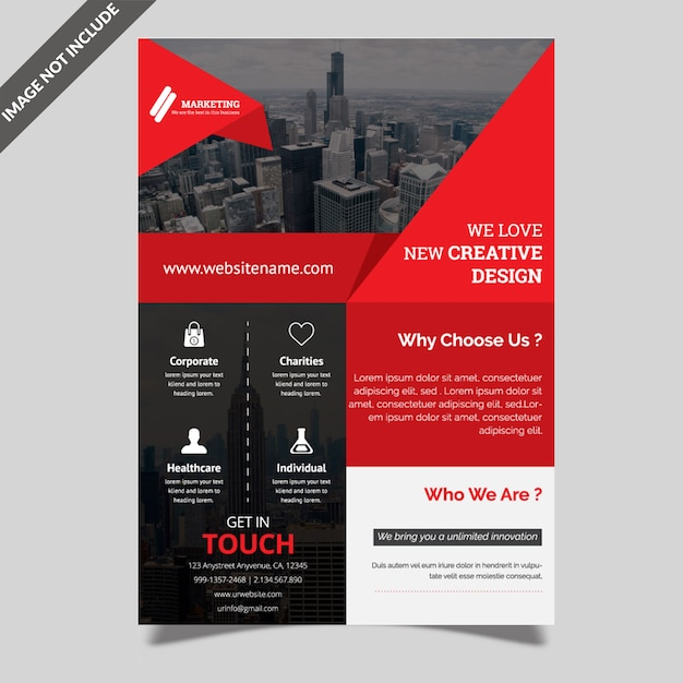 Corporate creative flyer vorlage Premium Vektoren