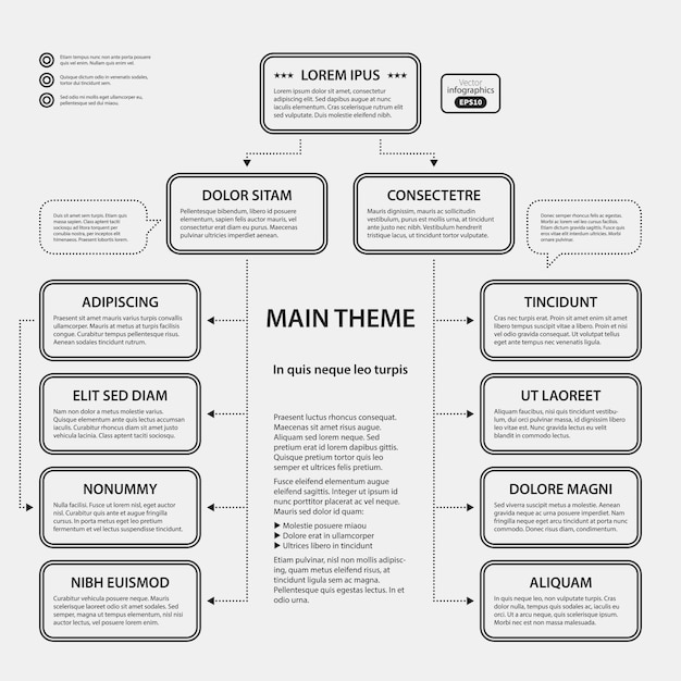 Corporate design vorlage auf weißem hintergrund. nützlich für werbung, präsentationen und webdesign. Premium Vektoren